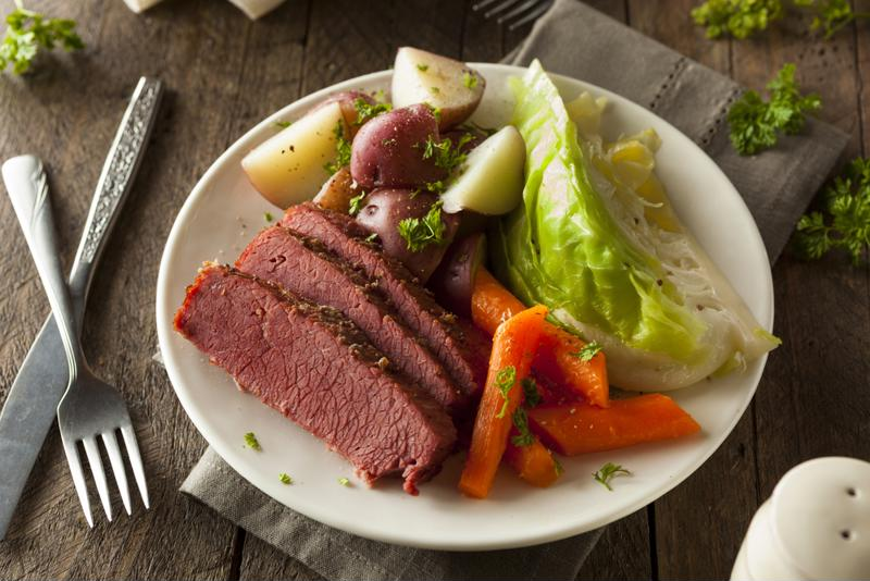 Slow cooking corned beef and cabbage makes for the most flavorful dish.