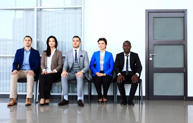 MBA program candidates waiting to interview