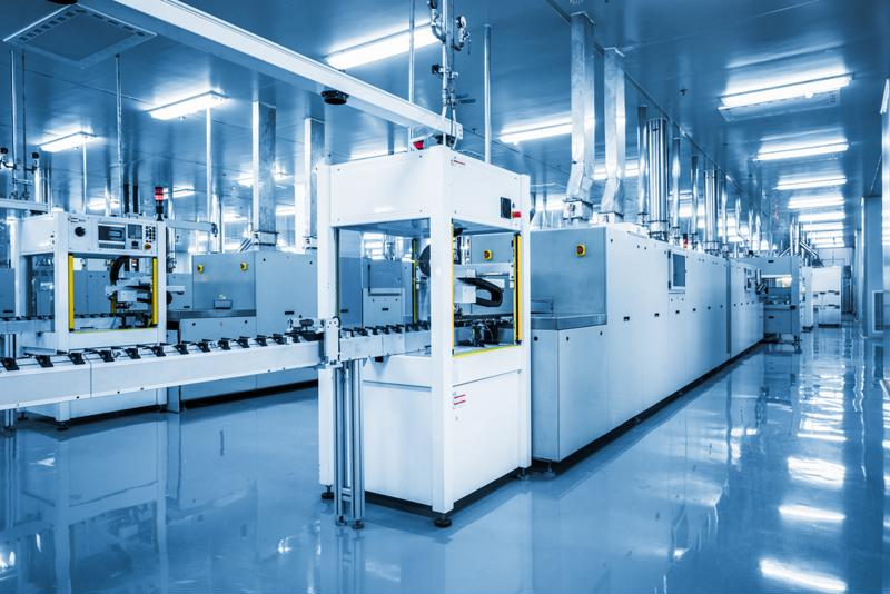 Image of the inside of an automated manufacturing plant