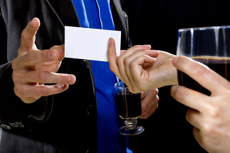 Don't forget to hand over your business card.