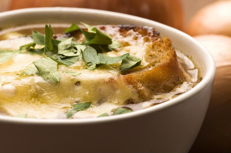 It doesn't get much better than homemade French onion soup.