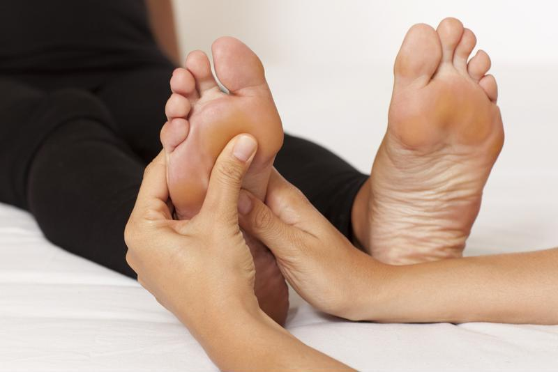 Rather than go to the spa, you can give yourself a relaxing foot massage at home.