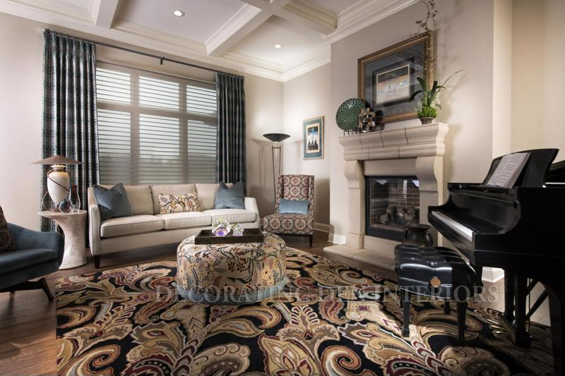 Add an array of patterns and textures to give your living room more visual interest.