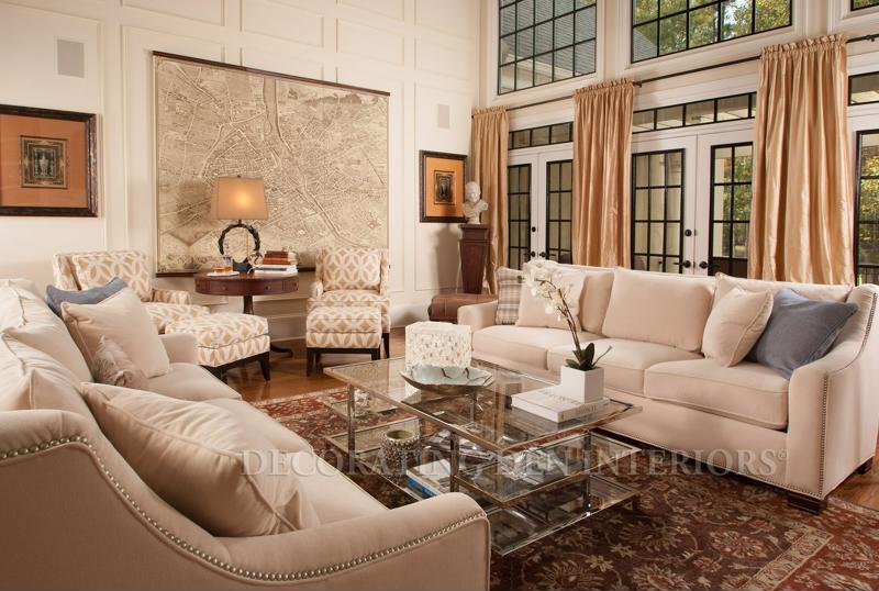 Using neutral colors open up more opportunity for adding patterns and designs to your living room.