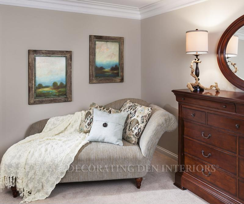 A chaise lounge is stylish and can act as extra seating space or even a place to sleep.