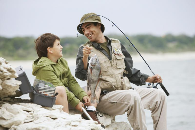 Fishing is a great activity for the whole family to learn together.