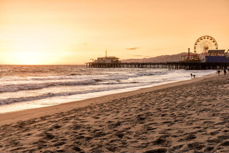 Santa Monica Pier is a great spot to watch the sunset.