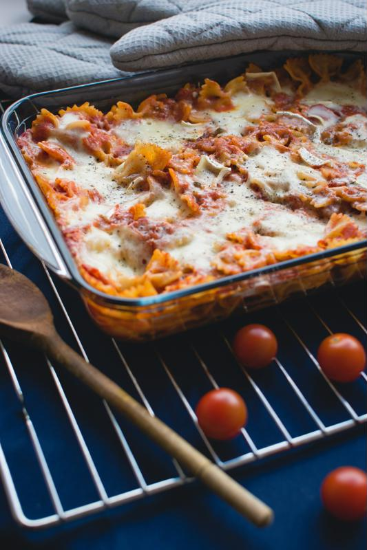 Lasagna can make a satisfying holiday dinner.