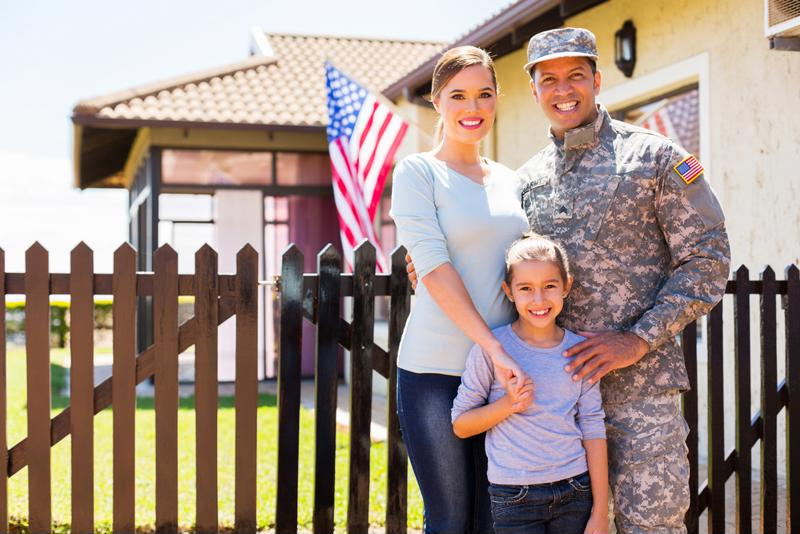 Many military home buyers are in the housing market because of a new job.