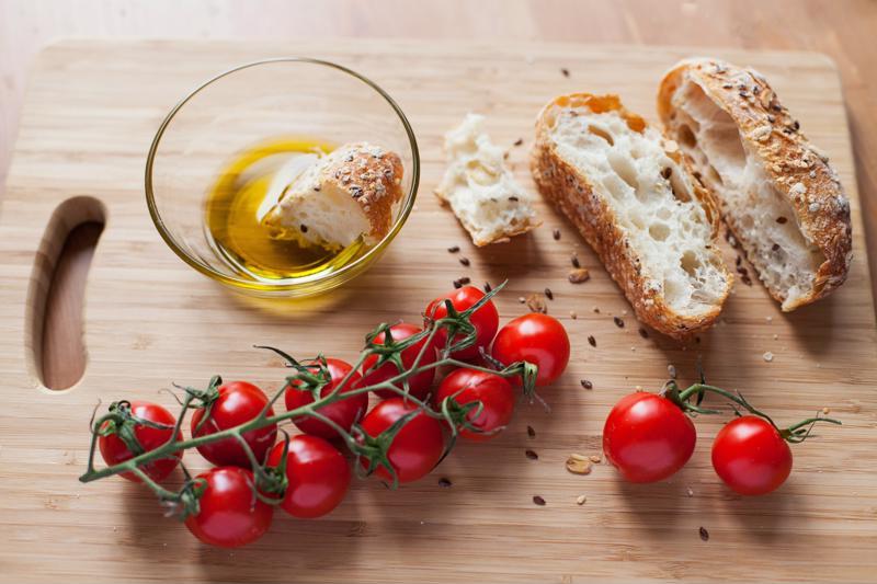 Rosemary olive oil bread is perfect for dipping.