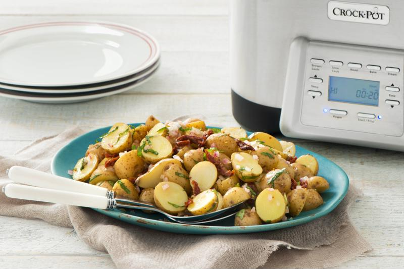 Potato salad is made easy in your slow cooker.
