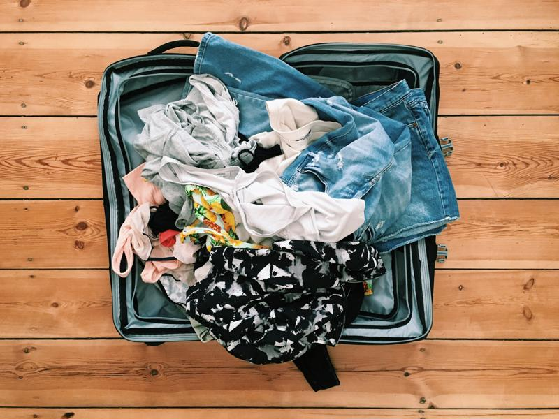 No matter how messy you are, make sure you leave room for health items to preserve your quality of life while on vacation.