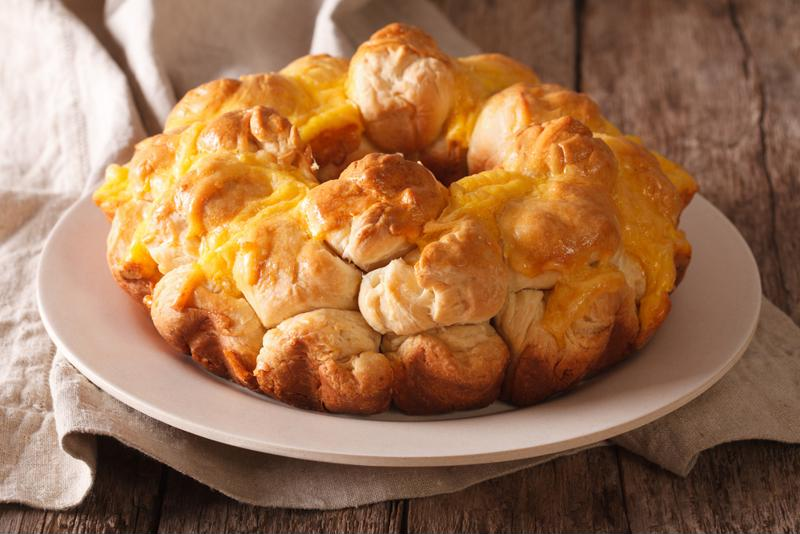 Cheesy and fluffy, this recipe for monkey bread is irresistible.
