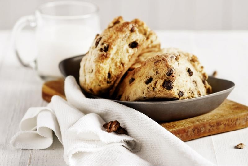 Chocolate scones make a great dessert.