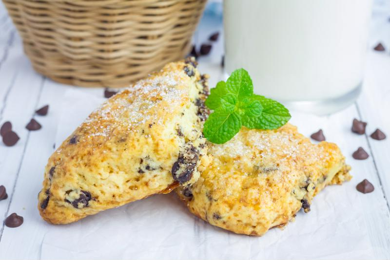 These sweet chocolate and cherry scones will go fast!