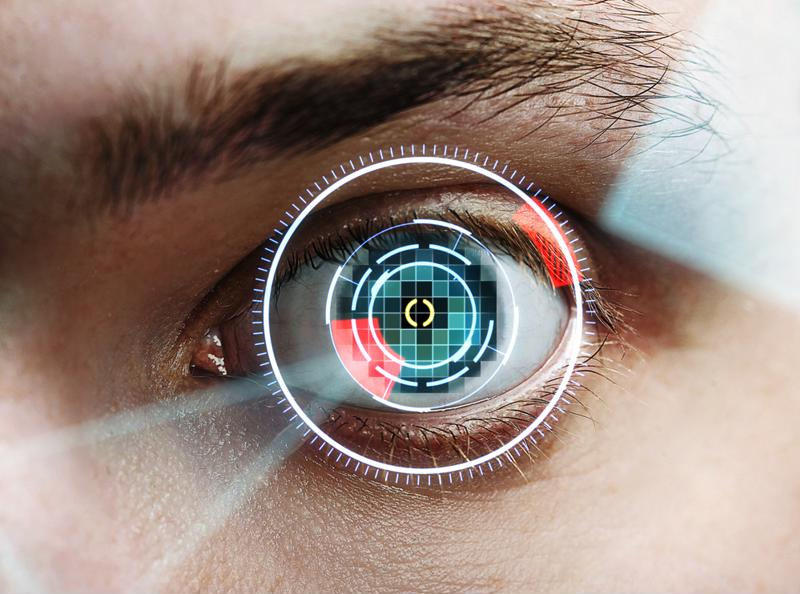 Iris scanners are an existing form of facial authentication.