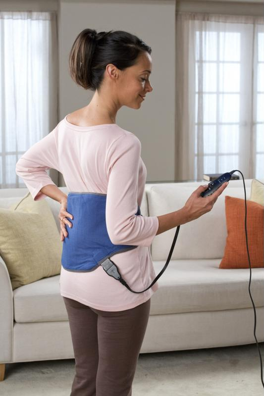 The Sunbeam® Body-Shaped Heating Pad with Hot & Cold Pack brings versatile heat therapy.