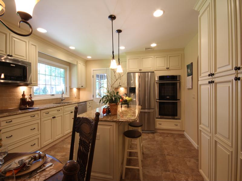 Adding a kitchen island can offer additional counter and storage space.
