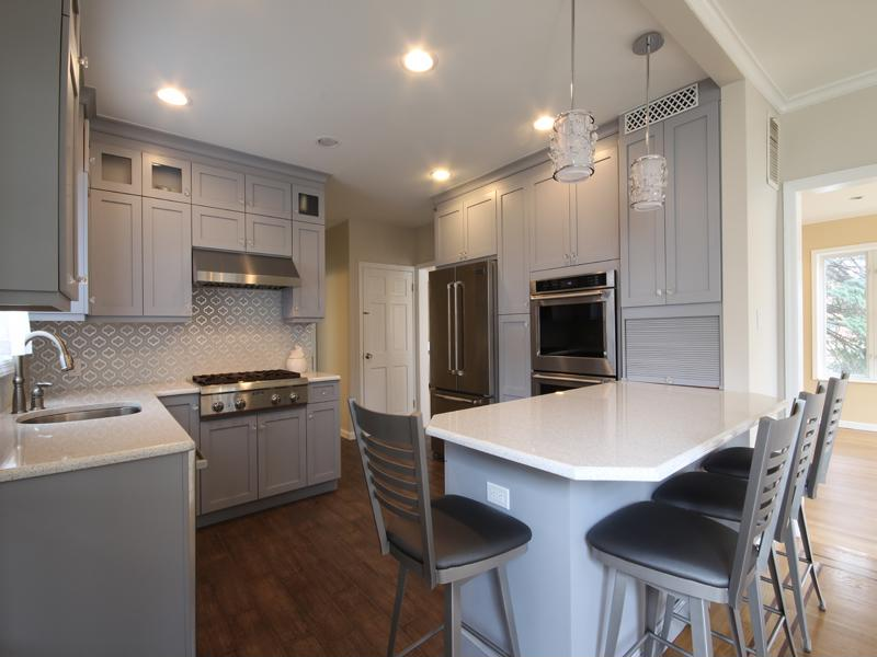 Bright, white surfaces can make a kitchen feel more open.