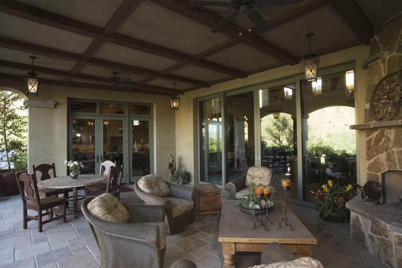 View of outdoor living room.