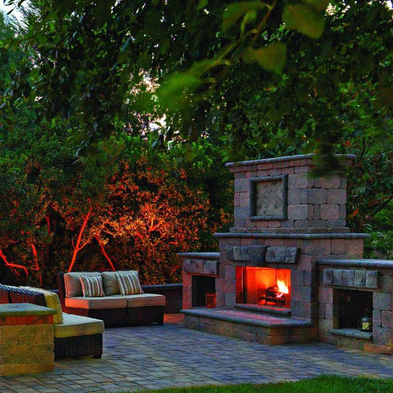 fire pit, fireplace, Portland, System Pavers