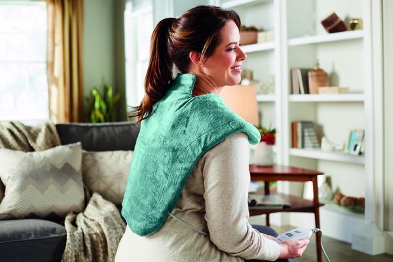 Let heat therapy bring comfort to your shoulders.