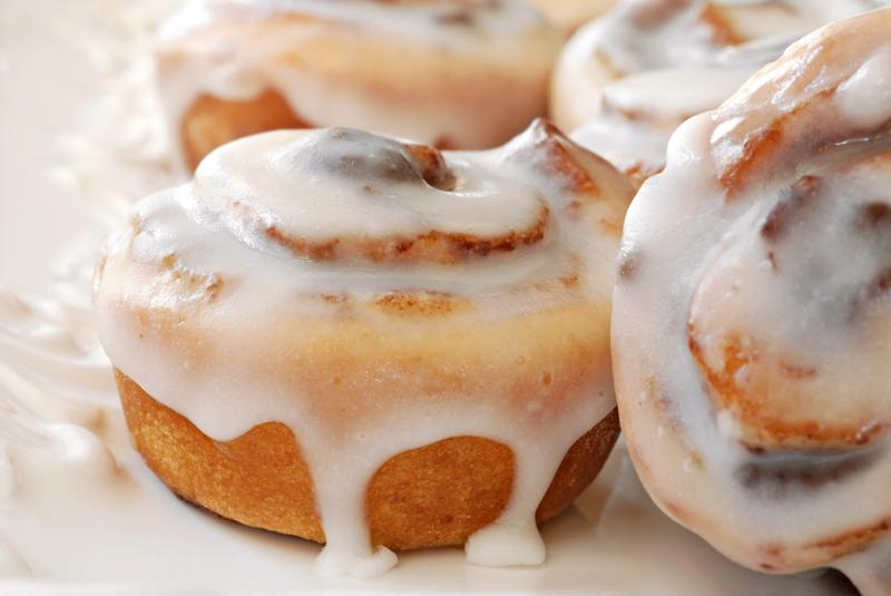 Use less milk for a thick glaze.