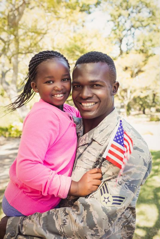 Many military home buyers have families.
