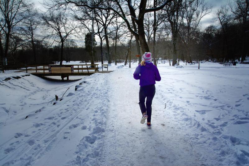 It's important to exercise caution when running in the winter.