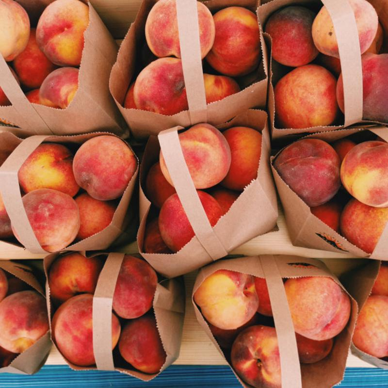 Fresh peaches that are then frozen make for a true natural delight.