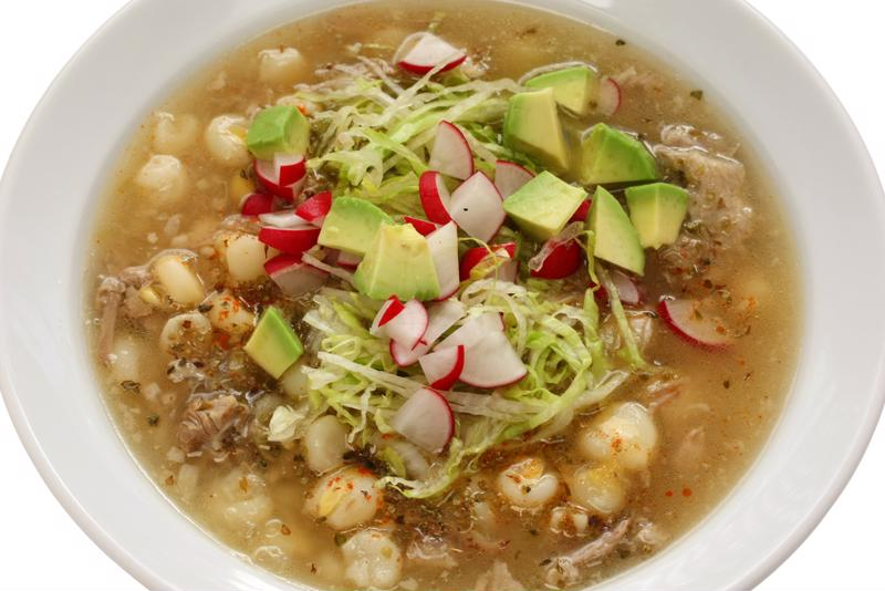 The best thing about this Mexican soup is that you can add any garnish you want.