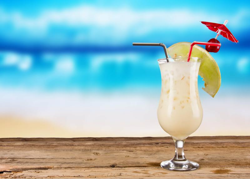 Margaritaville pina colada at the beach.