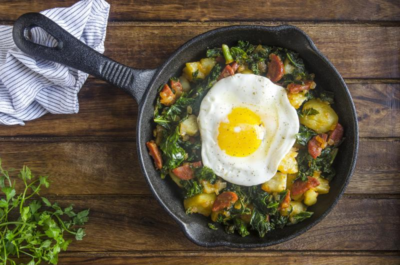 potato and chorizo breakfast hash