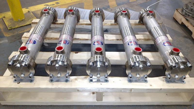 Enerquip's shell and tube heat exchangers can be custom designed and fabricated.