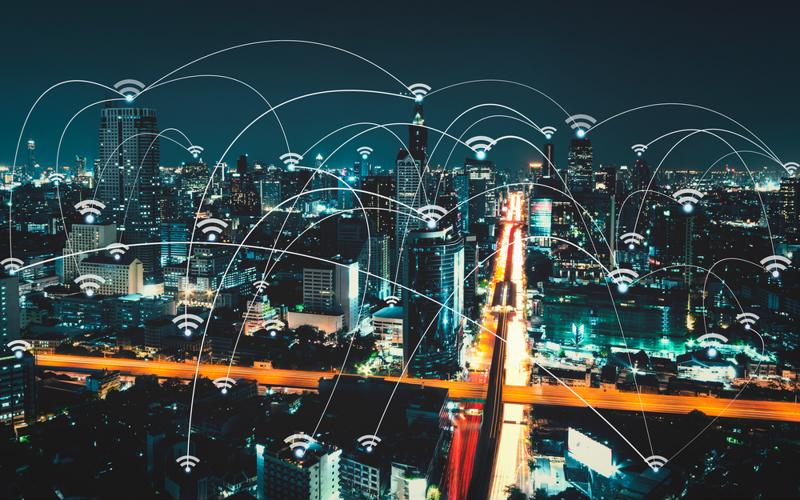 Smart city connected by Wi-Fi