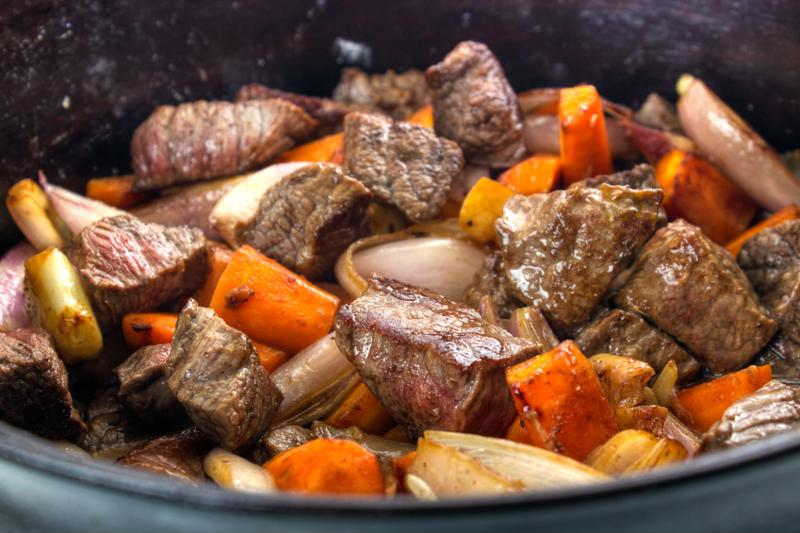 Prepare meals ahead of time then throw them in a slow cooker.