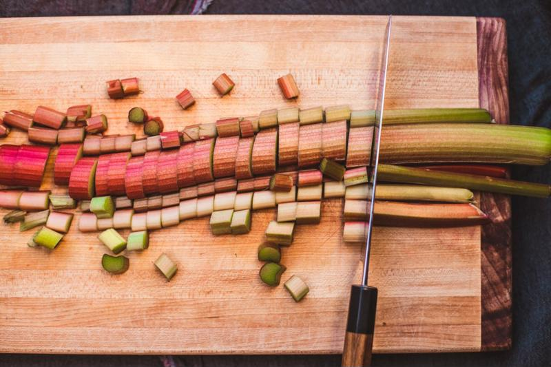 Chopped rhubarb is often the first step in making the perfect savory rhubarb dish.