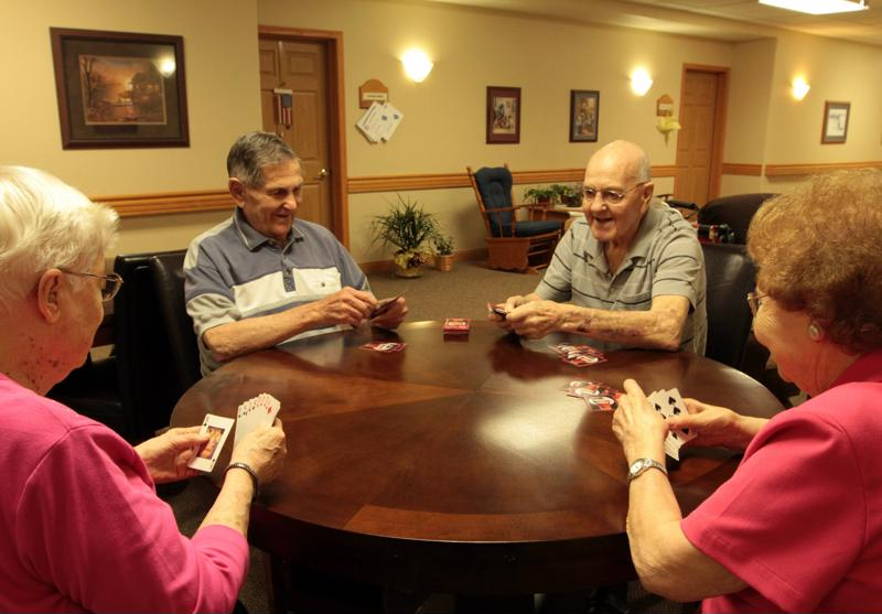 Staying inside gives seniors an opportunity to socialize.