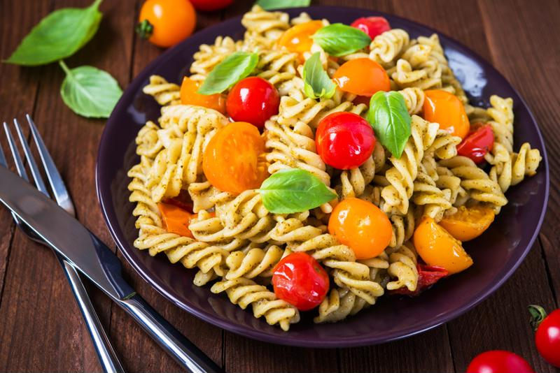This quick and simple pesto caprese pasta salad tastes great too!