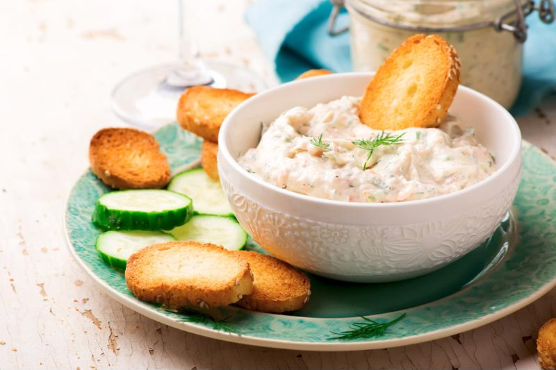 A creamy dip with salmon flavour.