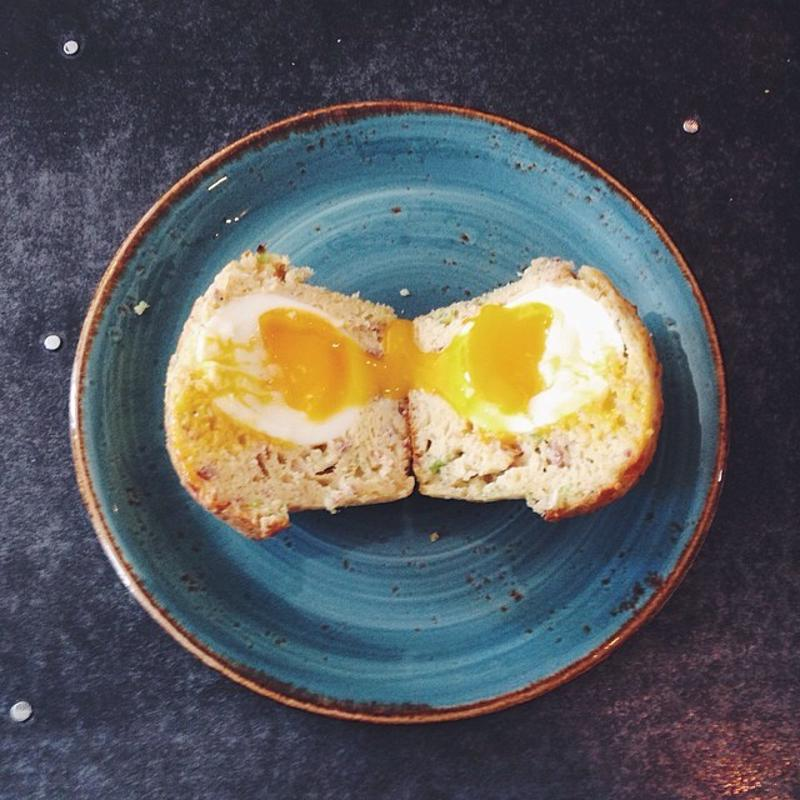 Combine a soft-boiled egg and muffin for an amazing start to your day.
