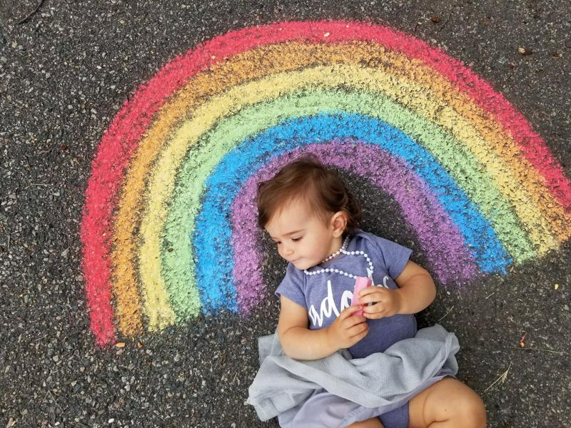 Chalk art photography allows you to capture your child in a magical, whimsical setting.