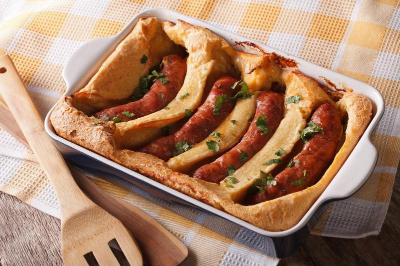 Toad in the Hole is a nice seasonal treat.