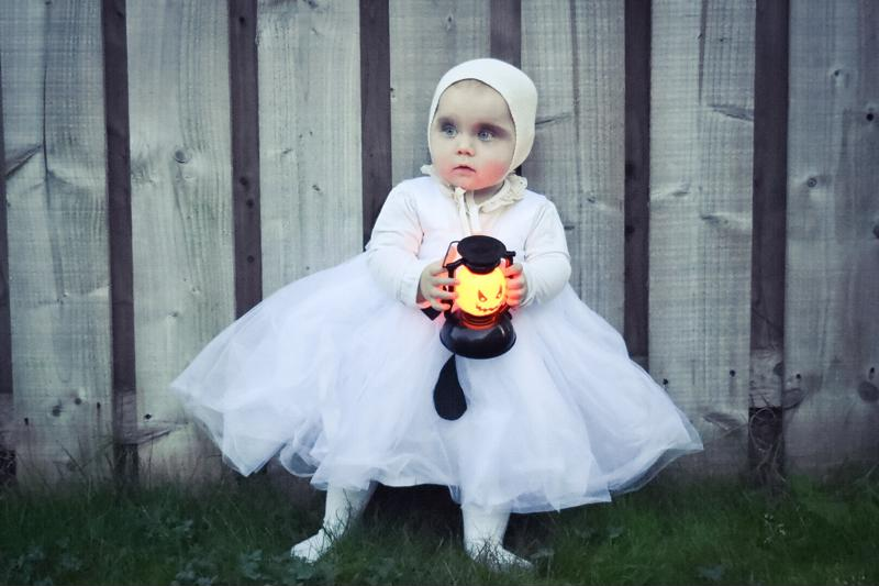 Little baby dressed like ghost