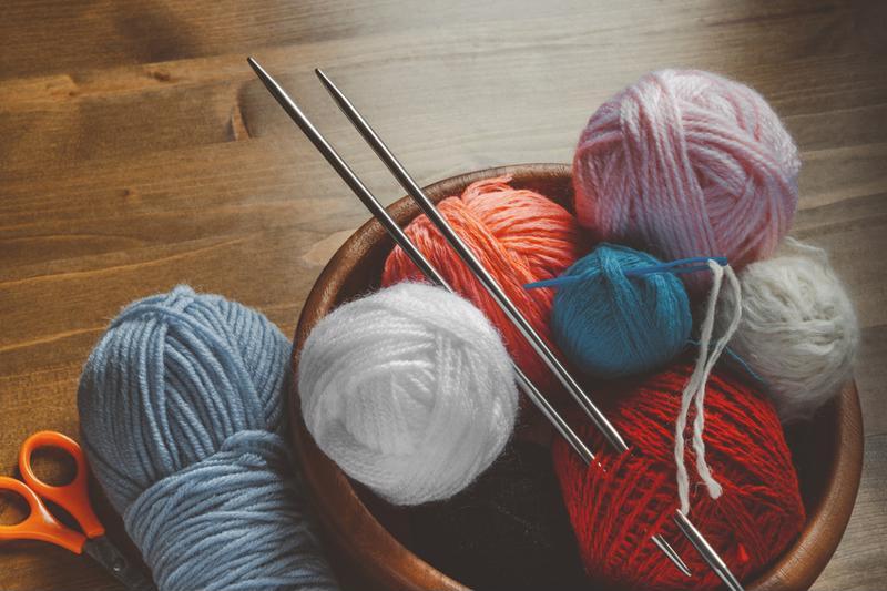 Stay organized with vacuum-sealed yarn balls.