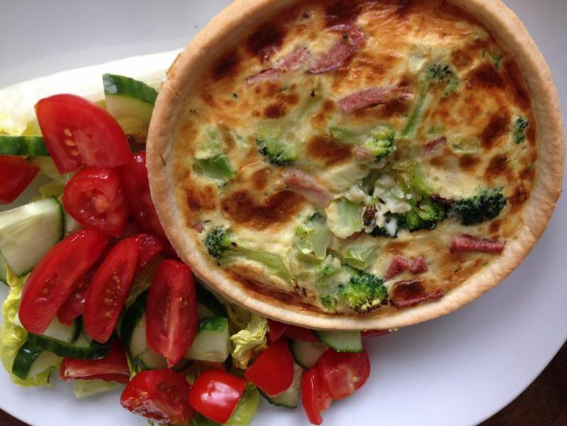 Add your favorite veggies to quiche for an irresistible meal.