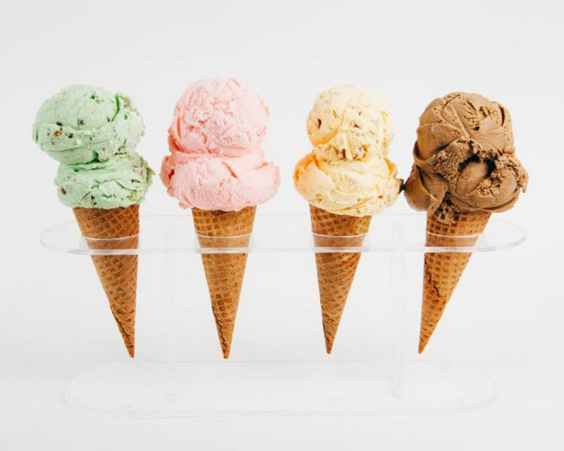 Hand-dipped ice cream comes in many flavors, but they take up a lot of freezer space.