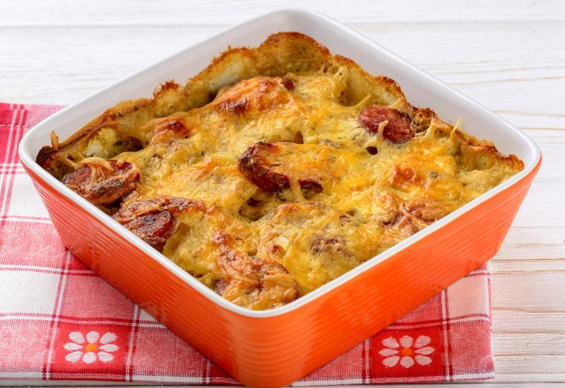 Egg casserole is a morning treat packed with protein.