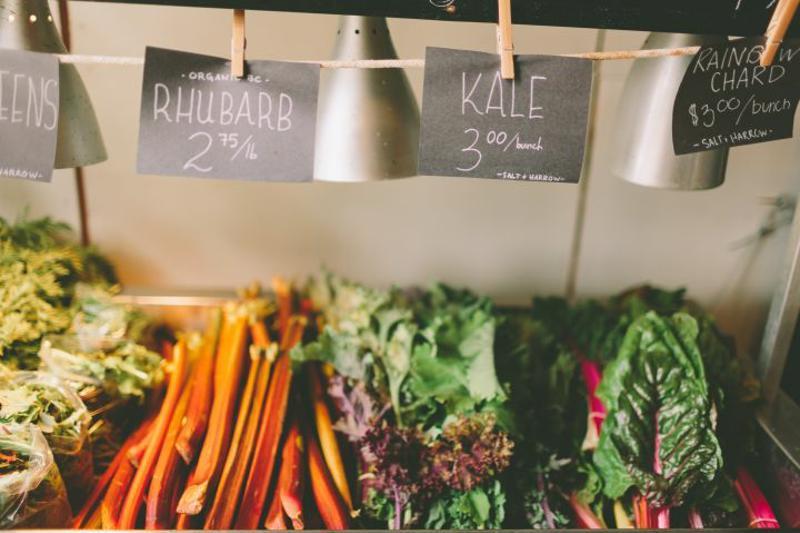 Vegetables for sale.