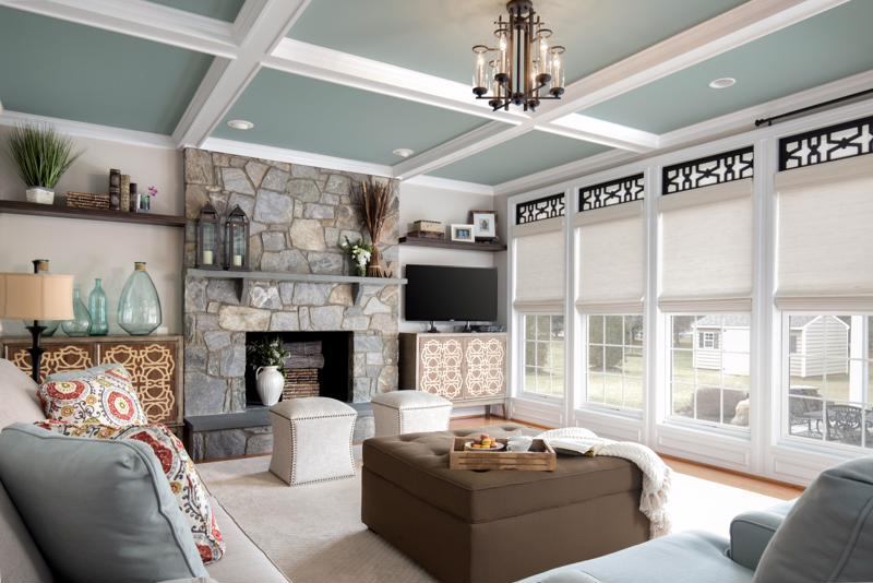 Be mindful of the type of window treatments you want based on each room's purpose.